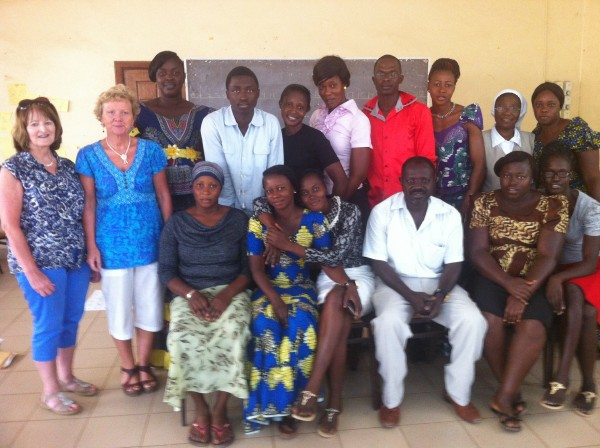 GIVE Volunteers with Gambian Teachers